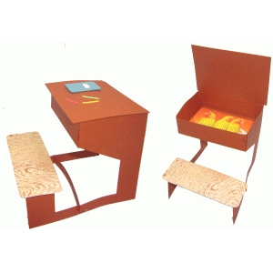 school desk box & decor