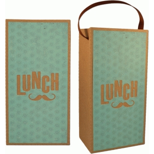 3d mustache lunch bag