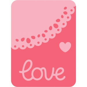 journaling card love collection 3x4