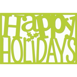 happy holidays 4x6 word art
