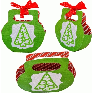 christmas tree charm bag