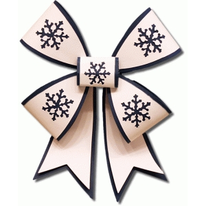 3d double snowflake layered bow
