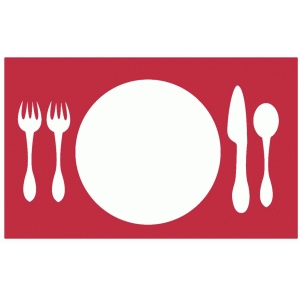 place setting negative space