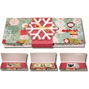 3d layered snowflake gift box with inserts