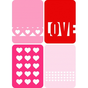 3x4 'love' journaling cards