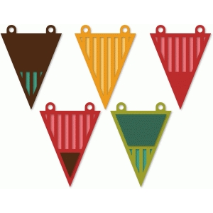 striped pennants