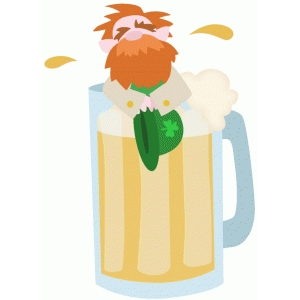 leprechaun in beer