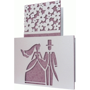 wedding cake shape card
