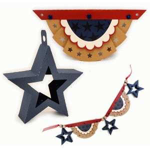3d star and bunting swag kit