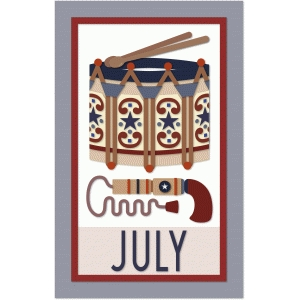 july calendar graphica quilt panel