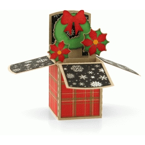 a2 wreath christmas box card