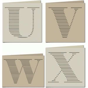 stripe monogram card uvwx