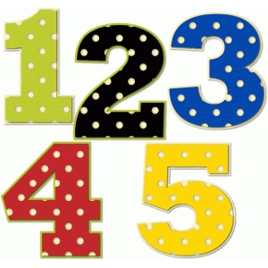 polka dot numbers 1-5