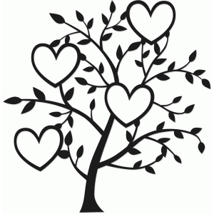 tree of four hearts