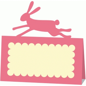 running hare folded place name card
