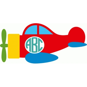 cute airplane monogram