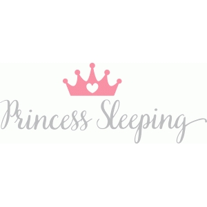 princess sleeping wall quote