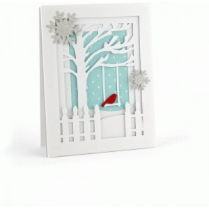 a2 bird in tree pop dot card