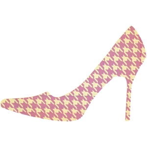 high heel houndstooth