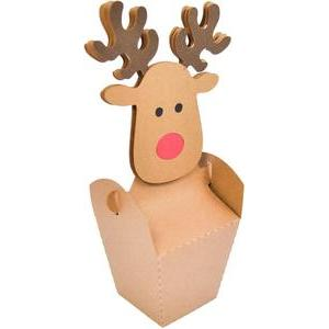christmas face reindeer box