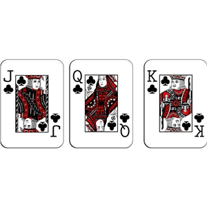 playing cards - clubs royalty