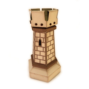 castle tower chess 3d box