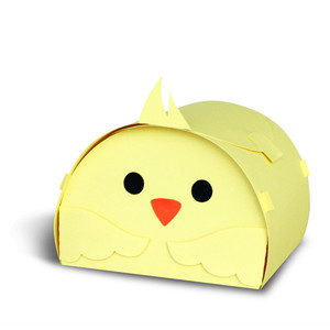 chick easter treat box