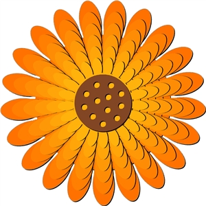 nested sunflower 3d