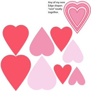 8 piece scalloped heart set 1