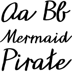 mermaid pirate font