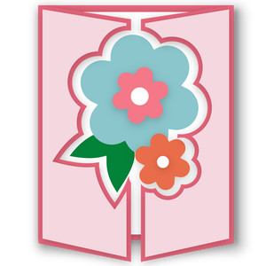 gatefold card - flower bouquet