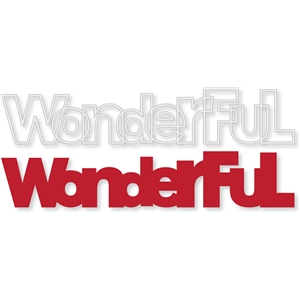 'wonderful' outline word