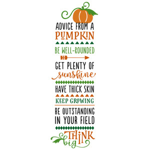 advice from a pumpkin phrase