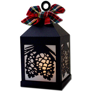 pinecone hanging tea light lantern
