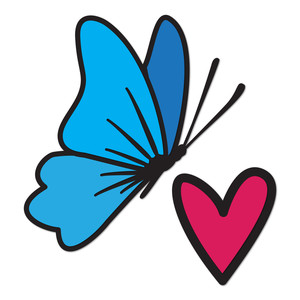 happy heart butterfly