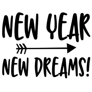 new year new dreams arrow quote