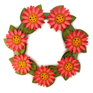 flower wreath spring for stand