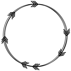 arrow doodle circle frame