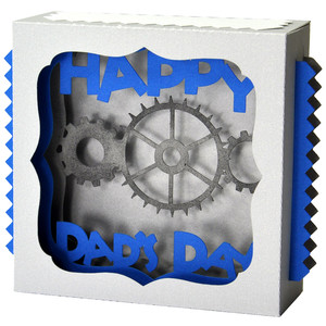 father's day gears gift card box