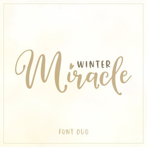 winter miracle font