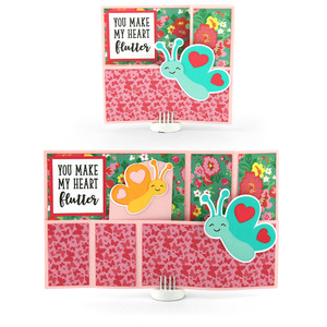 wiper card valentine butterfly