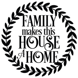 family makes a house a home wreath