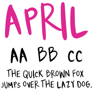 cg april font