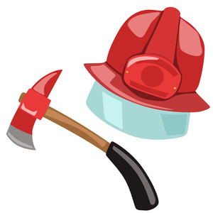 firefighter hat and axe