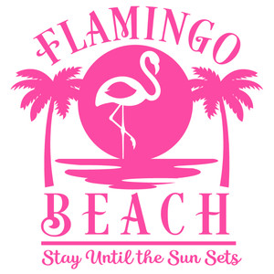 flamingo beach sign