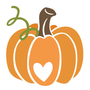 cute pumpkin with heart