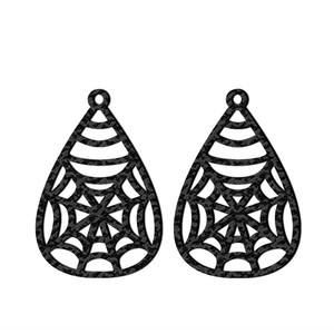 web earrings