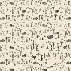 vintage trick or treat halloween pattern