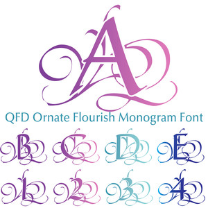 qfd ornate flourish monogram font