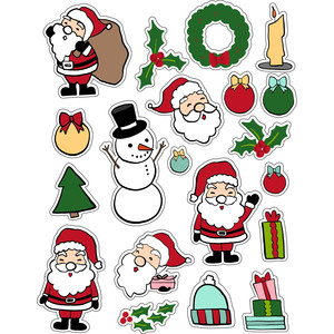 ml hello santa stickers